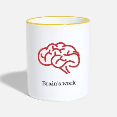 Worker Brain's work - Mug contrasté