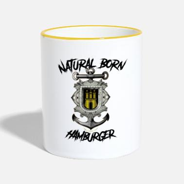Hamburg Port Natural Born Hamburger Black - Two-Tone Mug