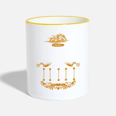 Bless You Bikers GOD BLESS YOU - Two-Tone Mug