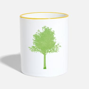 Tree tree green gradient ombre - Contrasting Mug