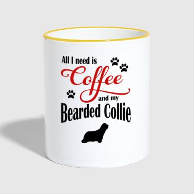 Bearded Collie Bearded Collie Café - Mug contrasté