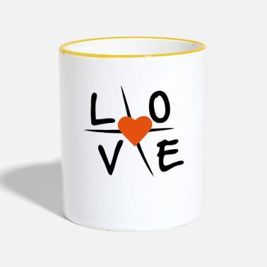 Love With Heart Love with heart - Two-Tone Mug