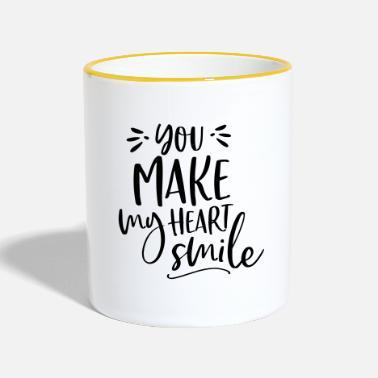 14 Feb YOU MAKE MY HEART SMILE BY SUBGIRL - Two-Tone Mug