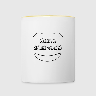 Wear a smile today - Tvåfärgad mugg