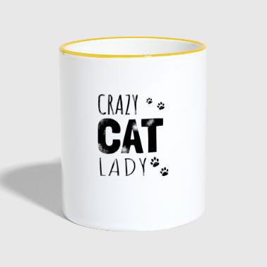 Crazy Cat Lady - Gift - Tofarget kopp