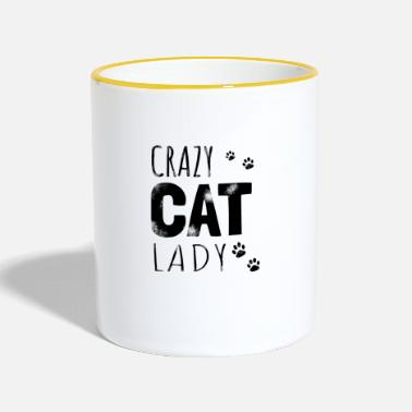 Crazy Cat Lady Crazy Cat Lady - Gift - Tofarget kopp