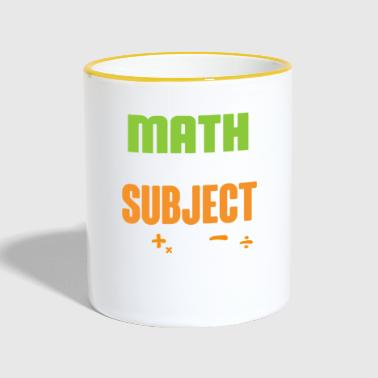 Math gift for math teacher - Contrasting Mug