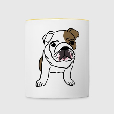 english Bulldog - Tasse zweifarbig