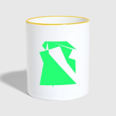 Green drawing - Contrasting Mug