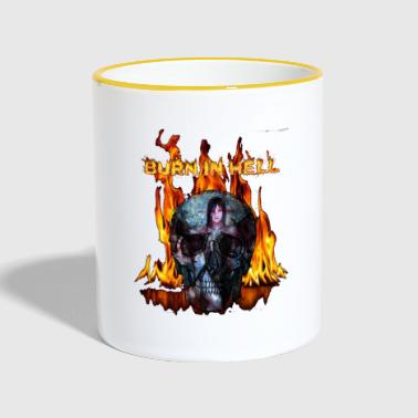 burn in hell - Tasse zweifarbig