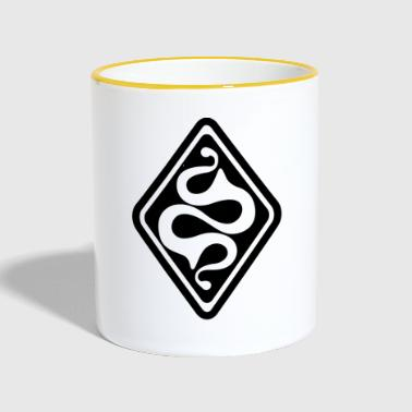 Latene Celtic symbol black white - Contrasting Mug