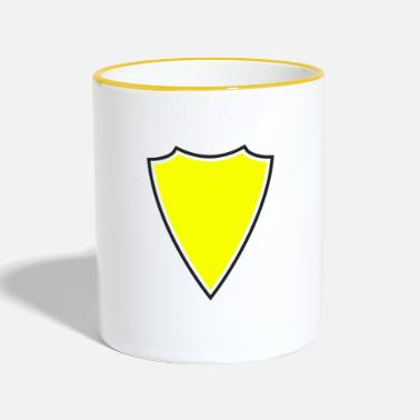 Shield shield yellow - Mok tweekleurig