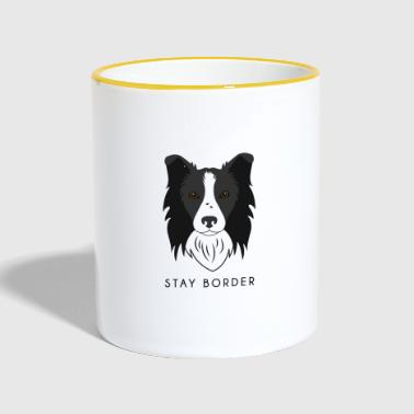 Border-Collie - Dark - Tasse zweifarbig
