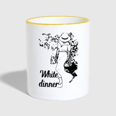White Dinner Kollektion 1 - Tasse zweifarbig