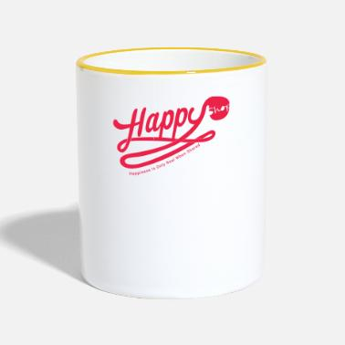 Happiness happy happiness - Mug contrasté