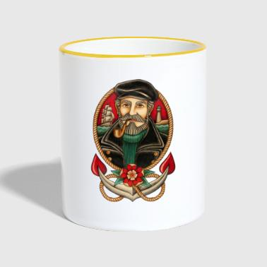 SEA CAPTAIN TATTOO - Taza en dos colores