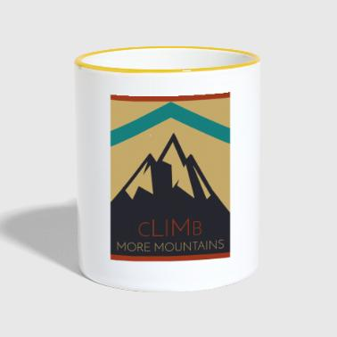 Mountain Climbing Climb More Mountains. Climbing mountains - Contrasting Mug