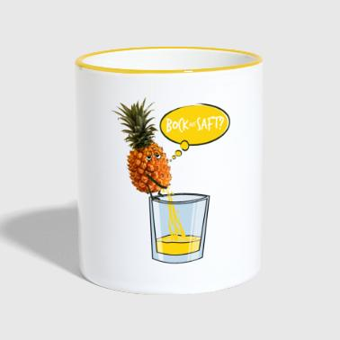 Pineapple pees in a glass - Contrasting Mug