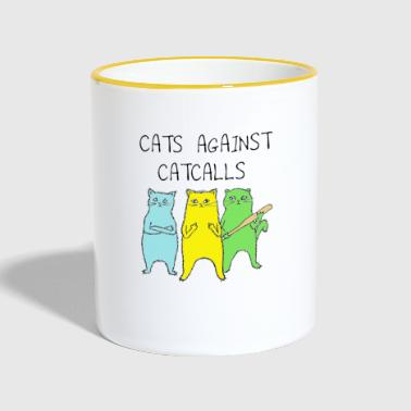 Cats Against Cat Calls - Mok tweekleurig