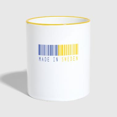 MADE IN SWEDEN BARCODE - Tasse zweifarbig