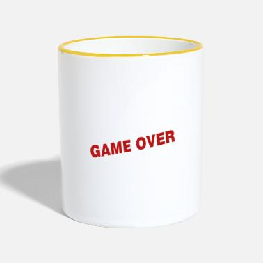 Game Over Game over - the game is over - Two-Tone Mug