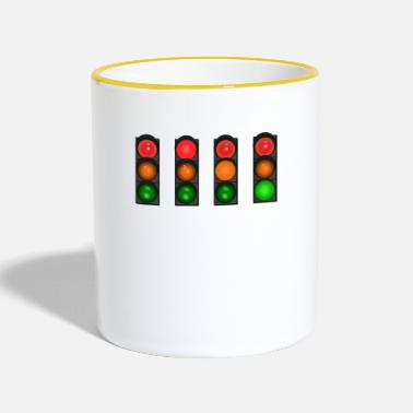 Light traffic light - Contrasting Mug