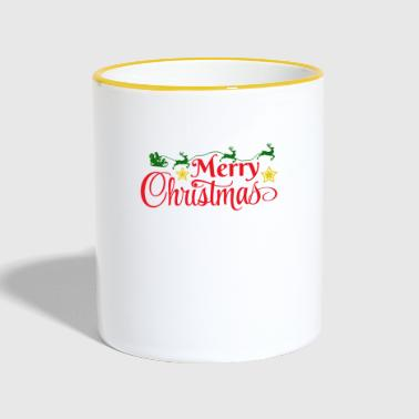 Merry Christmas Colorful - Tasse zweifarbig