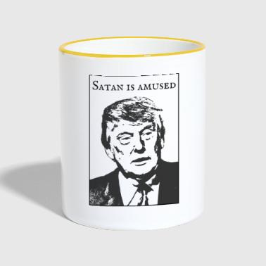 Satan is amused - Contrasting Mug
