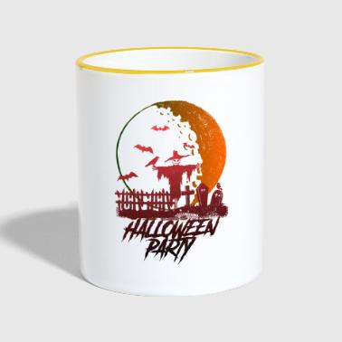 Happy Halloween party in the moon - horror - Contrasting Mug