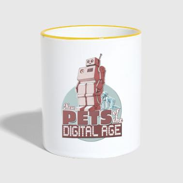 New Pets of the digital Age - Tasse zweifarbig
