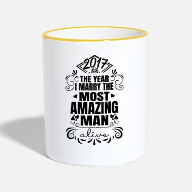 Man Wedding / Engagement 2017 Best Man - Mok tweekleurig
