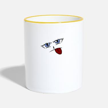 Tongue tongue - Two-Tone Mug