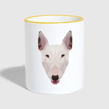 English Bull Terrier Artwork - Kubek dwukolorowy