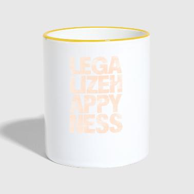 Legalize Happiness T-Shirt - Tasse zweifarbig