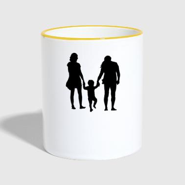 Parents with child - Contrasting Mug