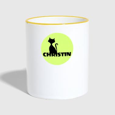 First Name Christian name First name - Contrasting Mug