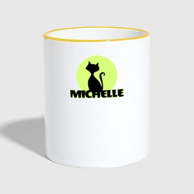 First Name Michelle Name First name - Contrasting Mug
