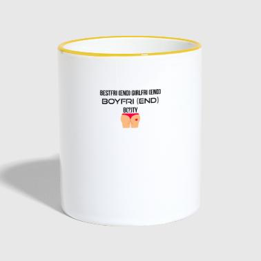 BestfriEND GirlfriEND BoyfriEND - Tasse zweifarbig