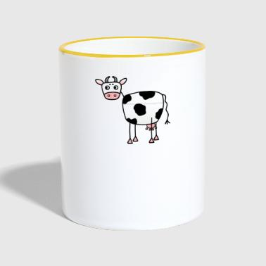 Funny cow with udder - Contrasting Mug