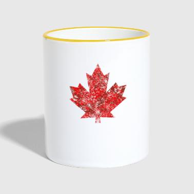 Kanada Kanada Maple Leaf Maple Leaf Grunge Ameryka - Kubek dwukolorowy
