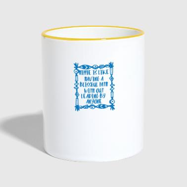 Hippie / Hippies: Hippie is like having a blissful - Contrasting Mug