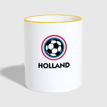 Holland Football Emblem - Kubek dwukolorowy