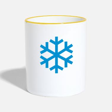 Icon Snowflake Weather Icon Icon - Kaksivärinen muki
