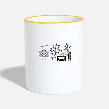 Molécula Making molecules - Taza en dos colores