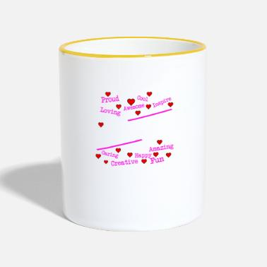 Emotion Emotionen - emotions - Tasse zweifarbig