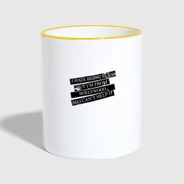 Motive for cities and countries - HOLLYWOOD - Contrasting Mug