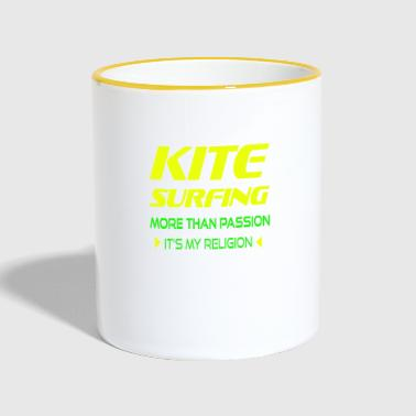 KITEBOARD PLUS DE PASSION - ITS MY RELIGION - Mug contrasté