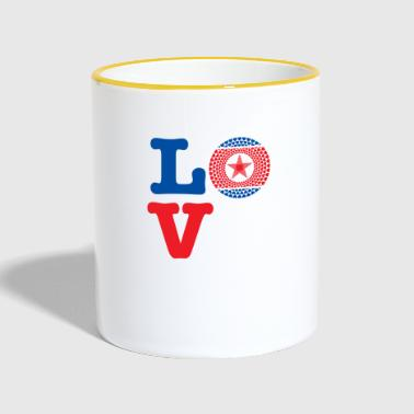 KOREA DEMO REP HEART - Contrasting Mug