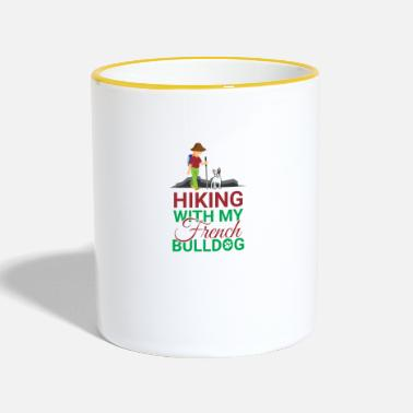 French Bulldog HIKING FRENCH BULLDOG - Contrasting Mug
