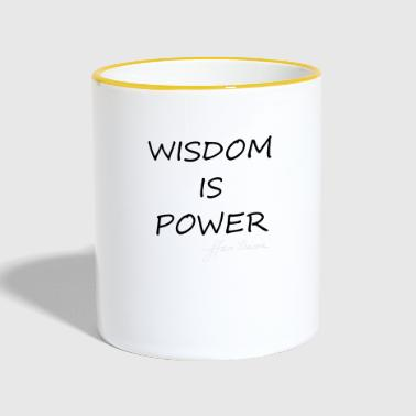 Wisdom is Power - Contrasting Mug